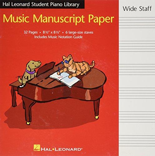 Hal Leonard student piano library music manuscript paper. Wide staff