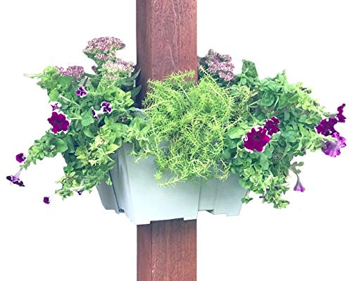 Cheap  El Patio Post Planter: Square Hanging Planter for Flowers and Herbs Adjusts..