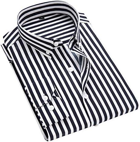 シャツ メンズ 長袖 ストライプ柄 綿 ワイシャツ 折襟 スタンド襟 カジュアル ビジネス 柔らかい おしゃれ ネルシャツ 春 夏 秋