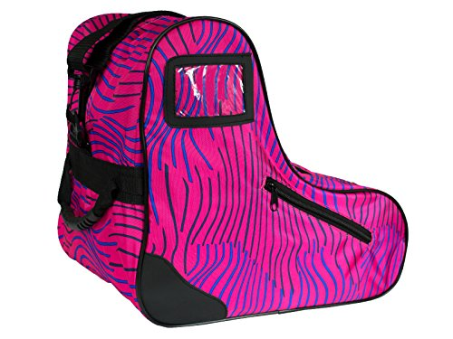 In Line Skates Bag - Epic Skates Epic Pink Zebra Premium Skate Bag, Pink/Purple, One Size