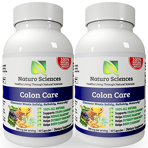 Naturo Sciences Colon Care - Gently Detoxify your Insides - Boost your Immunity and Restore Digestive Health - 30 Servings, 60 Capsules - Pack of 2