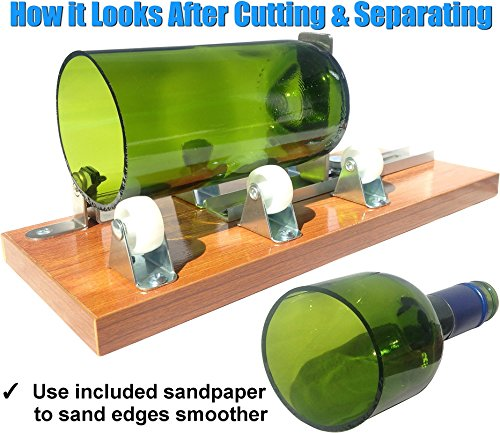 Glass-Bottle-Cutter-Deluxe-Kit-Upcycle-EZ-Cut-Beer-Wine-Bottle-Cutting-Edge-Sanding-Paper-Heat-Tool