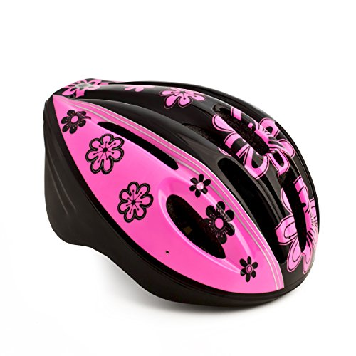High Bounce Kids Helmet for Cycling Scooter Bicycle Skateboard, All Outdoor Sports Gear, Lightweight (Pink/Black, -