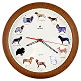 ISHIWA 14-inch Unique Animals Family Quality Wall Clock Silent Non-ticking Movement, Home Decor (W82057 Dogs)
