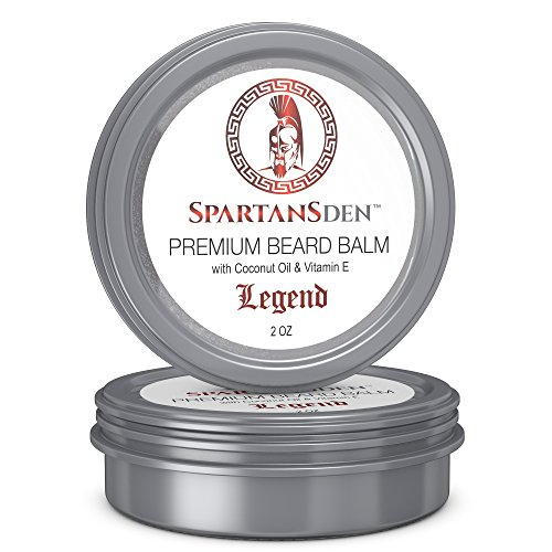 "SALE | Spartans Den Premium Beard Balm | Beard Conditioner For Growth, Soften, Itch, Grooming & Frizz | Coconut Oil & Vitamin E Infused |""Legend"" 2oz"