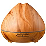 BESTLOVE-Essential-Oil-Diffuser-Wood-Grain-400ml-Aromatherapy-Cool-Mist-Humidifier-with-4-Timers-7-Colors-Light-Auto-Shut-off