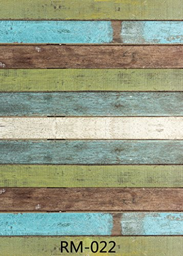 5x7ft Vintage Blue Green Wood Floor for Children and Kids Photo Backdrops CP Customized Studio Background Studio Props RM-022