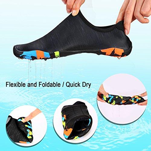 Dry 5uk 40eu Chaussures Aqua Unisexe Quick Water Aux Sports 6 noir Pieds Shoes De Natation Tagvo Barefoot Nus f4gqxwgC