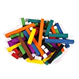 ETA hand2mind Plastic, Assorted Colors, Cuisenaire Rods Wooden-Alternative Introductory Set with Tray (Set of 74)