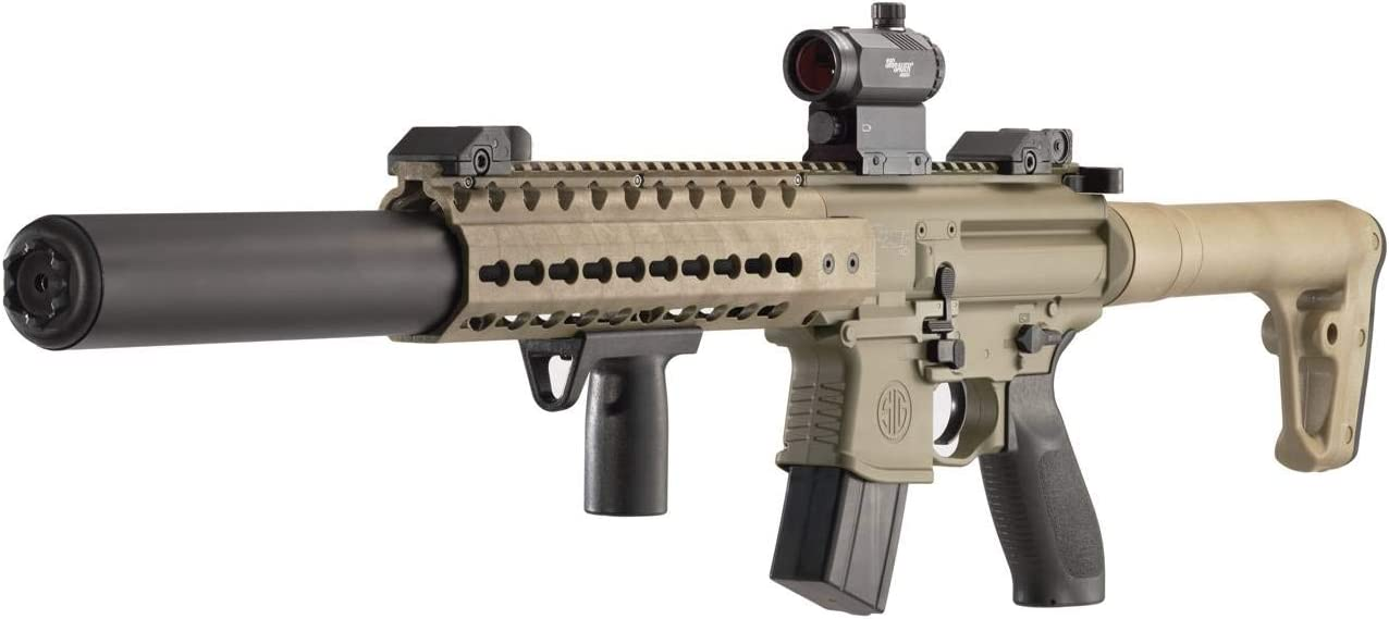 Sig Sauer Airgun MCX MRD Air Rifle Semi-Automatic .177 Pellet Blk FDE