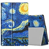 TiMOVO Folio Case for All-New Amazon Fire HD 8 Tablet (7th Generation and 8th Generation, 2017 and 2018 Release) - Slim Fit Folding Stand Cover case for Fire 8 Tablet, Starry Night