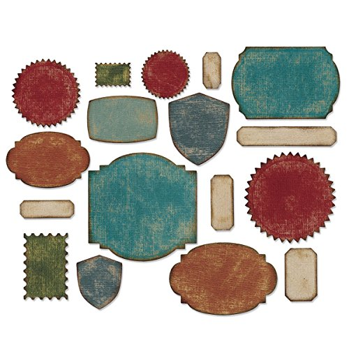 Thinlits Die Set, Labels by Tim Holtz, 17 Pack by Sizzix