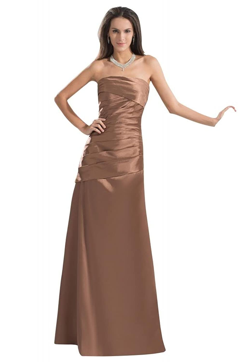 GEORGE BRIDE Fashion New Strapless Long Charming Cocktail Gown