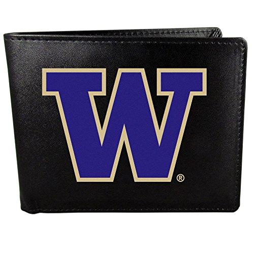 (Siskiyou NCAA Washington Huskies Bi-Fold Wallet Logo, Large, Black)