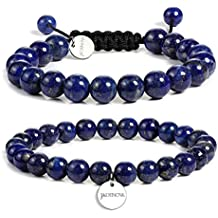 JADENOVA Natural Gemstone Bracelet Yoga Beaded Bracelet for Couples Gifts