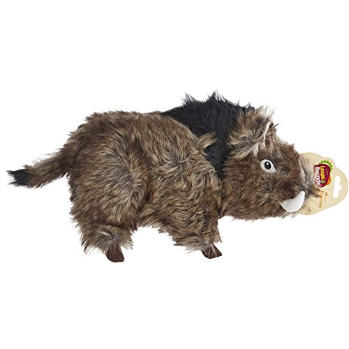 Leaps & Bounds Large Wildlife Boar Plush Dog Toy, Large, Multi-Color