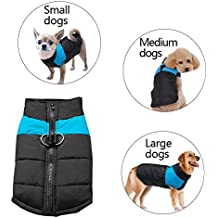 Didog Cold Weather Dog Warm Vest Jacket Coat,Pet Winter Clothes for Small Medium Large Dogs,8 Sizes Available,Blue,M Size