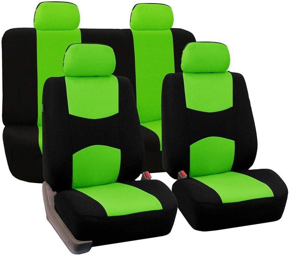 runnerequipment 9PCS//Set Orange Universal Car Fabric Seat Cover For Four Seasons
