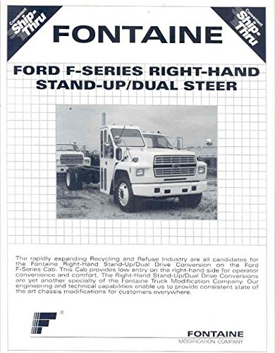 Series Color Conversion - 1994 Fontaine Ford F Series Conversion Truck Brochure