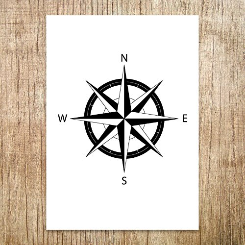 Navigational Compass Rose Wall Decor, Size 5x7, 8x10, 11x14, A5, A4 or A3, Great Minimalist Poster