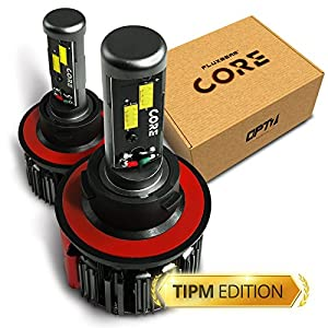 OPT7 Fluxbeam Core H13 9008 LED Headlight Bulbs w/TIPM Resistors Kit - 80w 6,000LM 6K Cool White CREE - For Dodge, RAM, JEEP, Chrysler