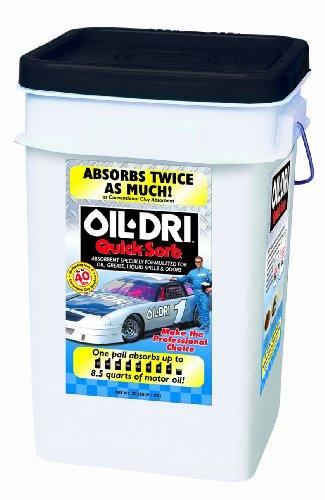 (Oil-Dri I05000-G60 Quicksorb Fine Granular Clay Absorbent Bucket, 20 lbs)