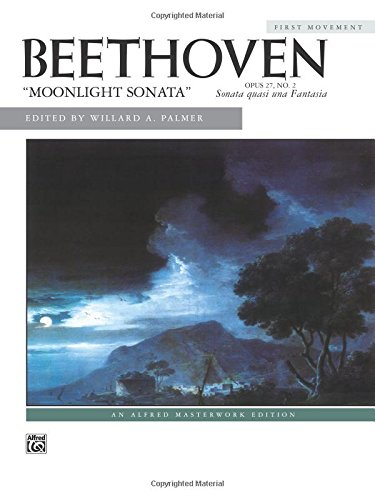 Moonlight Sonata, Op. 27, No. 2 (First Movement) (Alfred Masterwork - Beethoven Sheet Sonata Moonlight Music