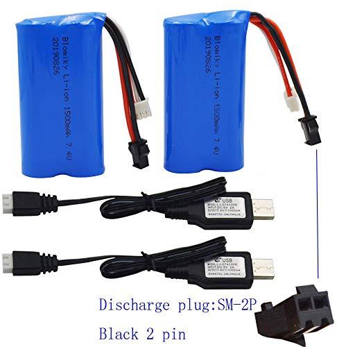 2 Baterias 7.4v 1500mah Con Cable Usb