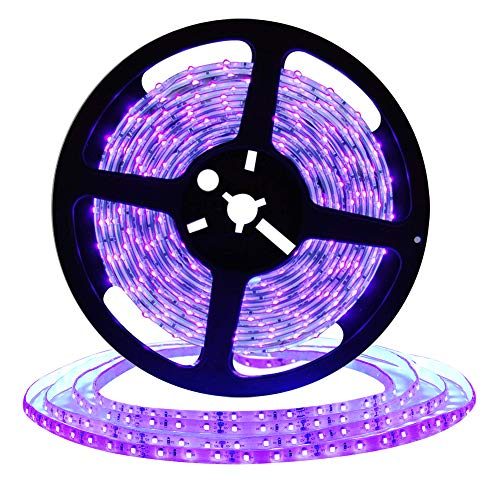 DeepDream UV Black Light Led Strip 32.8Ft/10M 48W Flexible Waterproof IP65 with 12V 4A Power Supply -