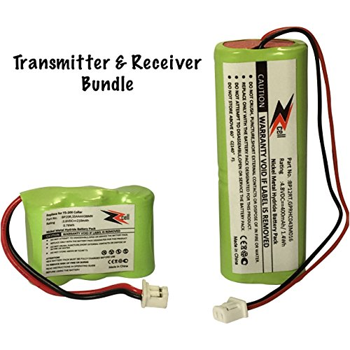 ZZcell 2-Pack Bundle Battery for Dogtra Transmitter BP12RT Receiver BP20R, 200NCP, 202NCP, 280NCP, 282NCP, 300M, 302M, 7000M, 7002M ()