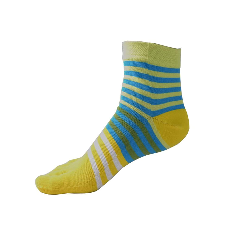 TULIPTREND Womens-girl- Cotton Crew Athletic Toe Socks, 3-Pack