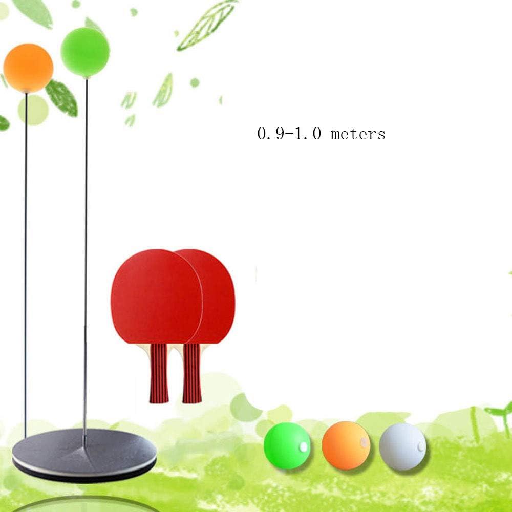 HJSMZ Dispositivo de Entrenamiento de Tenis de Mesa, Tenis de Mesa con Mango elástico Suave, para Entrenamiento de Pelotas de Ping Pong para Jugar en Interiores y Exteriores,C