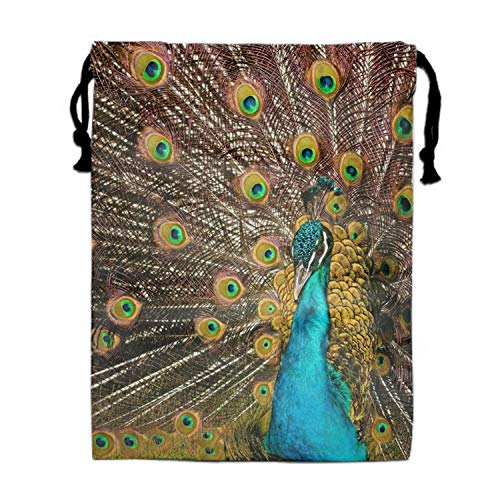 (Red Peacock Party Supplies Favors Bags Drawstring Gifts Bags)