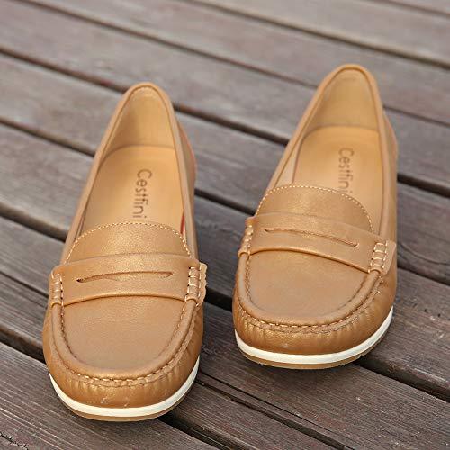 Loafers Con Lavoro Camel4 I'uso La Scelta Quotidiano Pelle Mocassini Zeppa Donna Comode Il Donna Scarpe E Wedge Per Sintetica Migliore 8qRZwEq