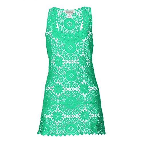 LingaDore Damen Trägerkleid Grün
