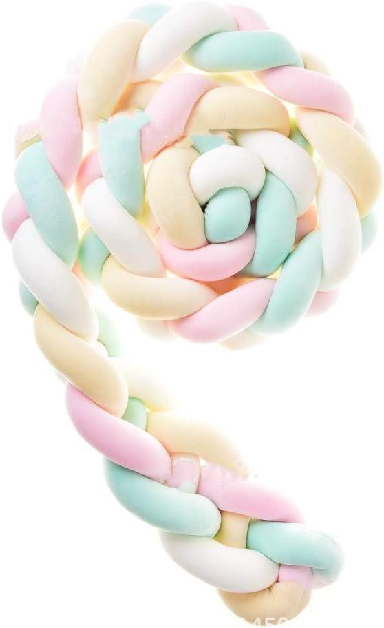 F,1m 100/% Coton /à La Main Tresse Tour De Lit Allum/é Soft Cristal Velvet Toy Cadeau Lit B/éb/é Pare-chocs Verser Pare-chocs De Lit Nouveau-sommeil N/és Braid Nursery OREILLER Tress/é Decorations