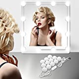 EEIEER Vanity Lights Kit, with USB Plug Hollywood Style 12 LED for Makeup Vanity Mirror Table Set in Dressing Room