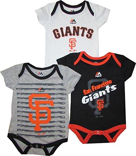 "San Francisco Giants 3pc ""Triple Play"" Creeper Bodysuit Set Infant Baby"
