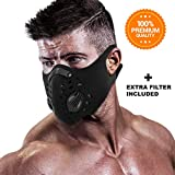 FITGAME Dust Mask - Dust-Proof Respirator Face Mask Activated Carbon Filter for Outdoor Activities - Air Filtration Gas Mask Anti-Pollution and Allergy [Workout Mask] - Extra Air Filter Included