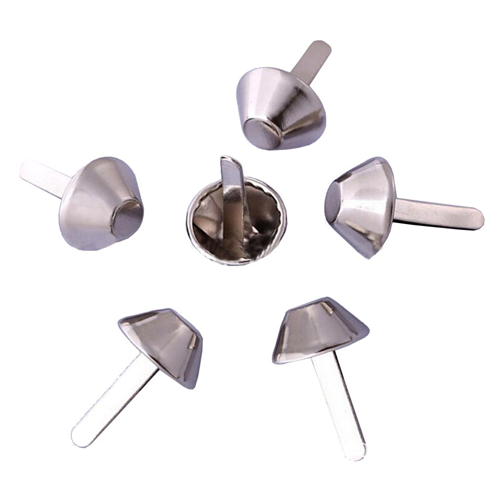 Bestartstore 8mm Bucket Shape Paper Fastener Brads Silver Metal Art Craft Brads for DIY Paper Craft Card Making Stamping Scrapbooking(200pcs) 4336848370