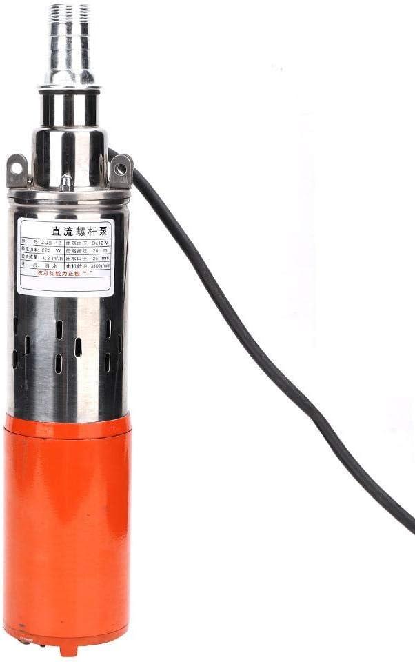 Pompe /à Eau Submersible en Acier moul/é NITRIP 1  24V-0.8m/³-35m DC Pompe /à vis /à Grande lev/ée INOX