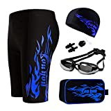 youyou Swimwear Suits Men Swim Jammers Set Solid Jammer Swimsuit Drawstring