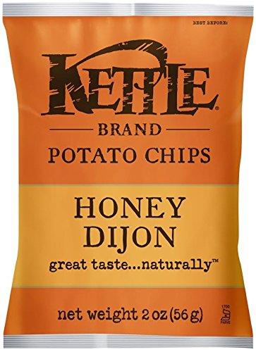 Kettle Brand Potato Chips Caddy, Honey Dijon, 2-Ounce Bags, 6 Count