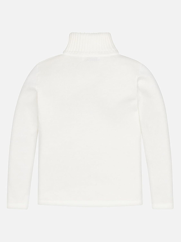 Mayoral 0313 Basic Knitting Turtleneck for Girls Natural