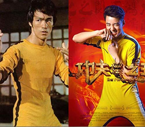 FidgetGear 2018 New Bruce Lee Classic Game of Death Costume Kung Fu Yellow Jumpsuit Uniform Fit -