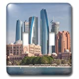 3dRose Danita Delimont - Cities - UAE, Abu Dhabi. Etihad Towers and Emirates Palace Hotel - Light Switch Covers - double toggle switch (lsp_277131_2)