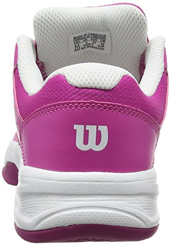 Wilson ENVY JUNIOR, Zapatillas de tenis Unisex infantil Rosa (Rose Violet / White / Boysen Berry)