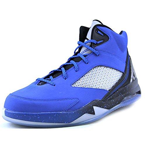 Jordan Men's Nike Air Jordan Flight Remix Basketball Shoes-Sport Blue/Black/Cool Grey-11.5 (Black And Blue Jordans compare prices)