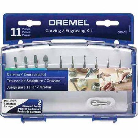 Dremel Carving/Engraving Mini Accessory Kit, 689-03]()