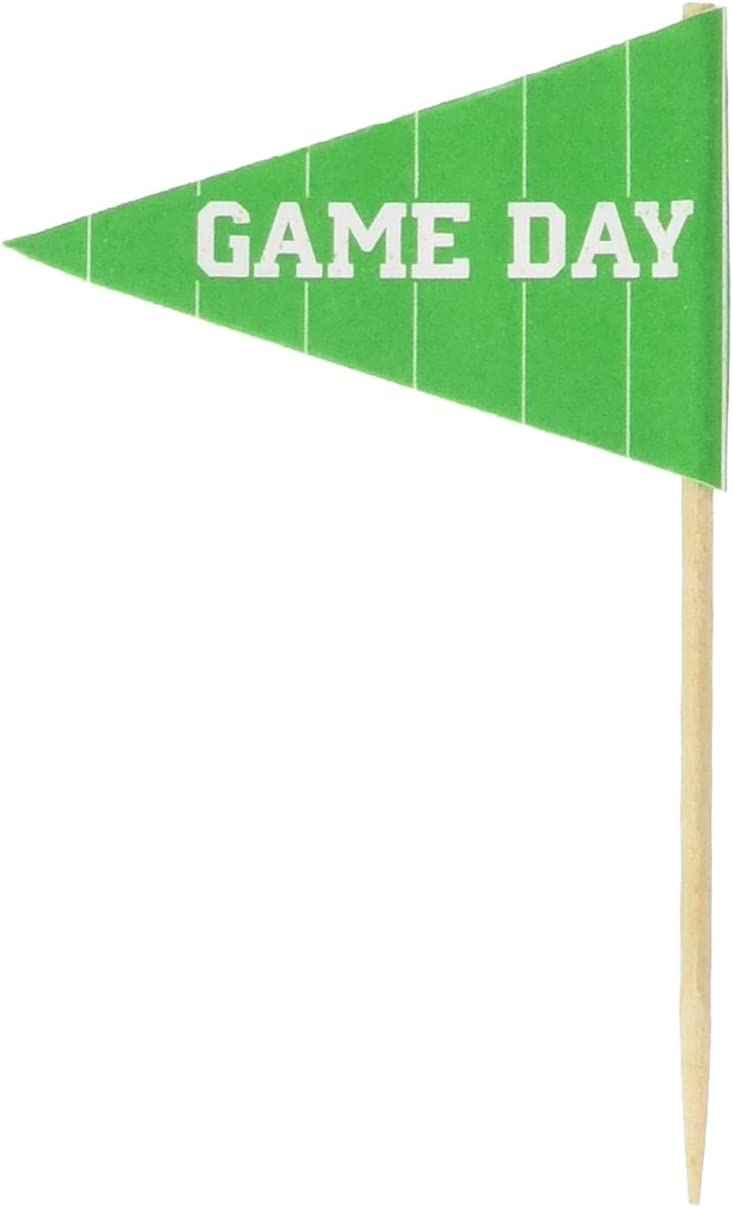 Beistle 50-Pack Game Day Football Picks for Parties, 2-1/2-Inch